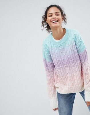 ASOS Chunky Jumper In Ombre