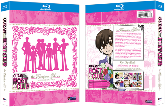 Complete Series Blu-ray Box Set: Front & Back O-Card with Pink Foilboard