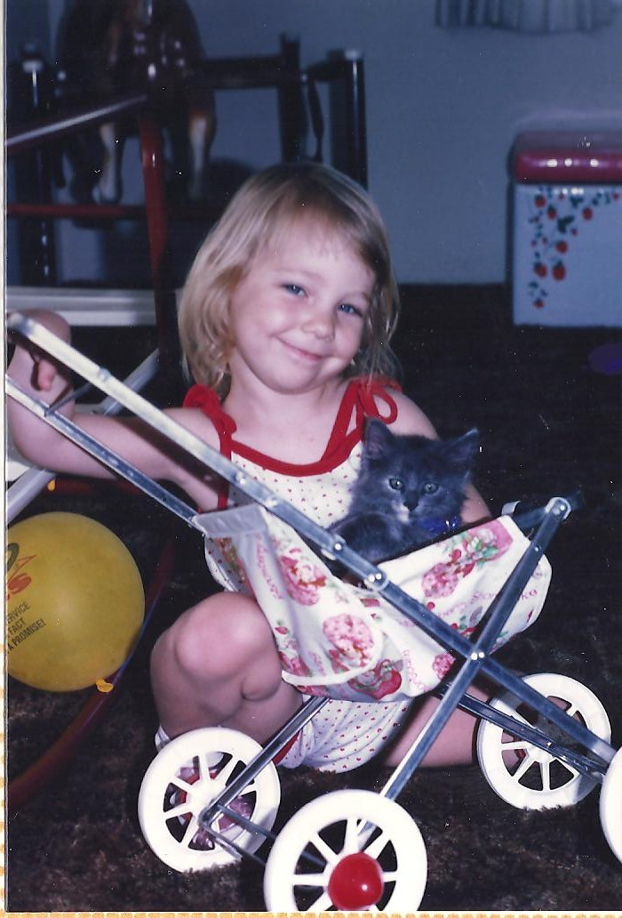 Fallene Age 3ish crazy cat lady in the making