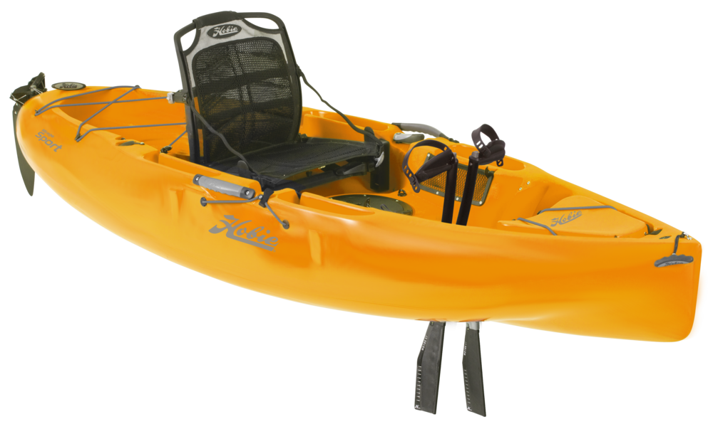 Mirage Sport   The Sport is sized just right for quick escapes, nine easy feet of kick-back kayak with Hobie MirageDrive motivation.