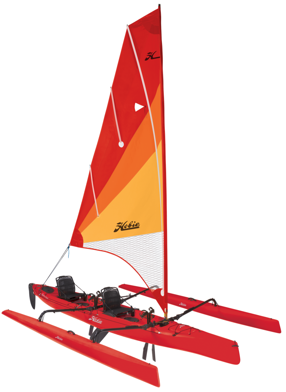 Mirage Tandem Island   Sailing has never seemed so simple. When the wind blows, the Tandem Island flies across the water, powered by an expansive, easily tended mainsail.