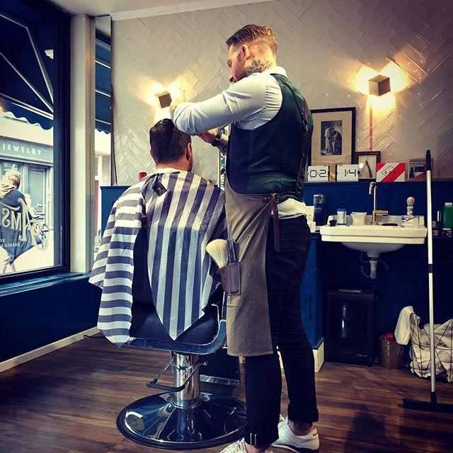 Best barber 💈 up North, check him out ASAP y'all 🇳🇱 bookings directly at @amsterdamdandy 💈 @barberbirdman 🇳🇱 #amsterdam #haarlem #viking #sonsofthenorth #tattoo #amsterdam🇳🇱 #barber #inked #military #tattooed #politie #coverup #art #design #gruntstyle #beardstyle #sleevetattoo #warriorapparel #beard #photooftheday #barbershop #instatattoo #bodyart #tatts #devgru #amazing #badass #merica #newyorkcity