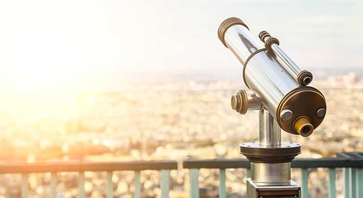 Overlooking, telescope