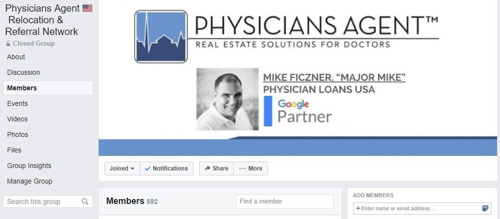 Facebook Group - A place for Physicians Agents™ to talk and share their ideas.