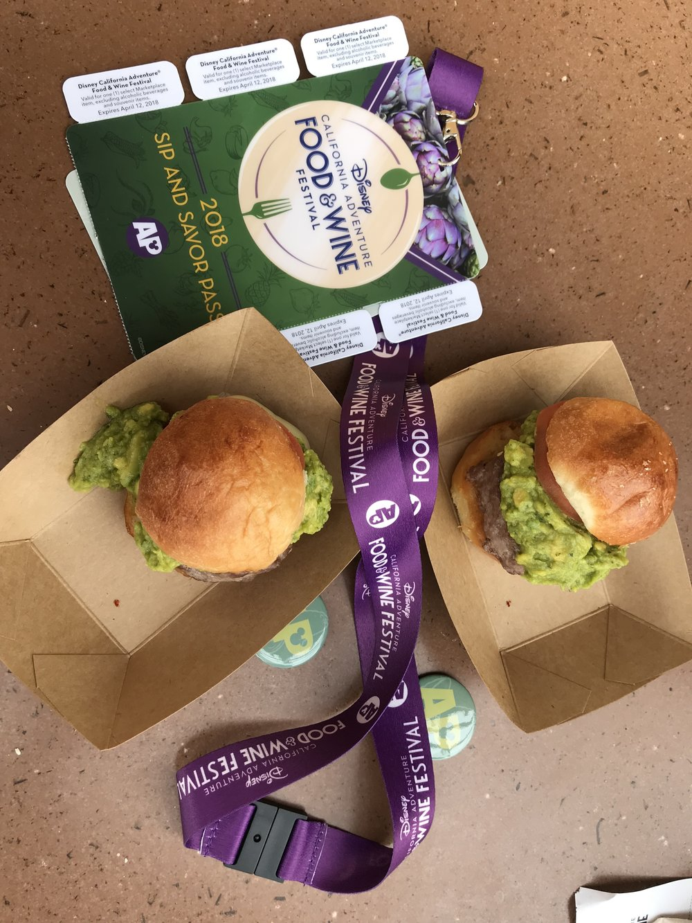 The Guac Burger from the Avocado booth.  Tasty and substantial.  Keep in mind they only make them Med-Rare!  Use a pass coupon for this.
