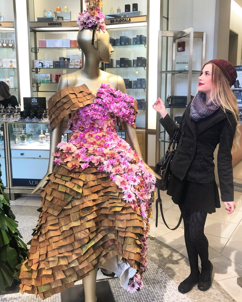 Some amazing avant-garde Fashion on Display in Saks from the local college students.