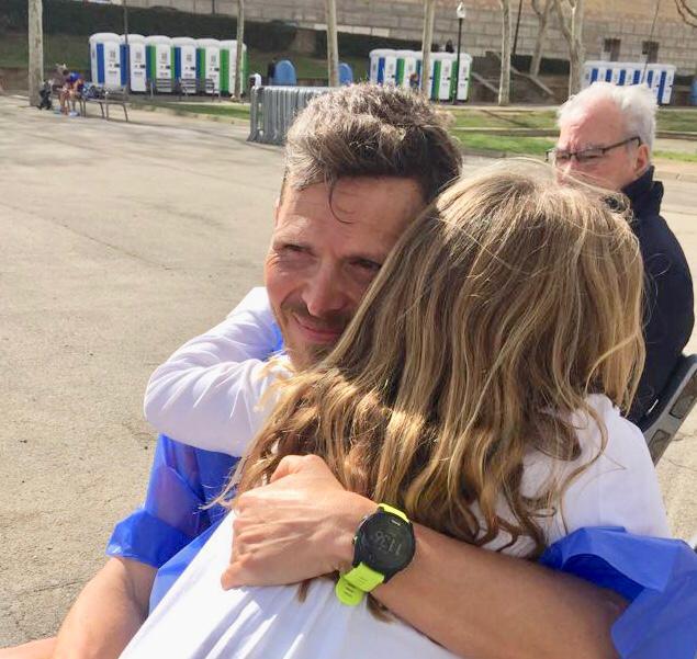 Bernat happy after the race.