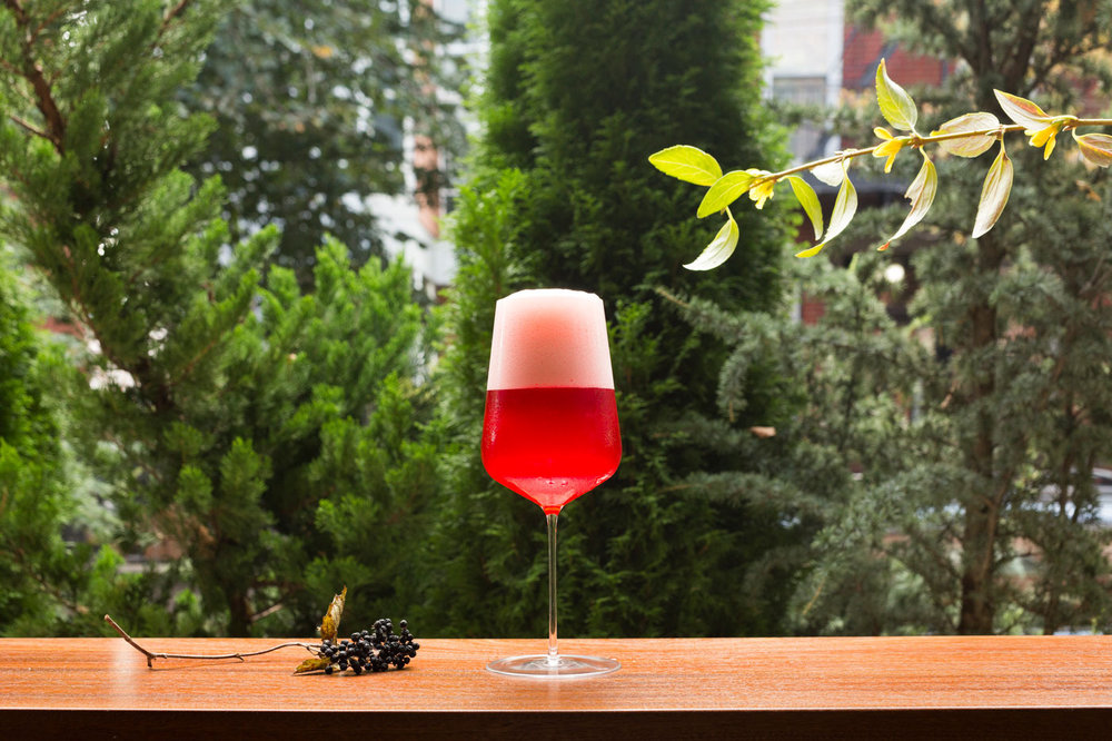 Folksbier Brauerei's Glow Up Berliner–style weisses are flavored with seasonal fruit. Photo: Camilo Fuentealba