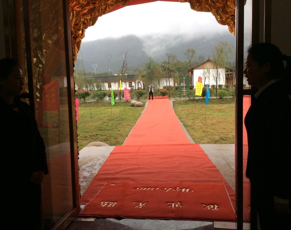 Red carpet entrance at the opening ceremony.
