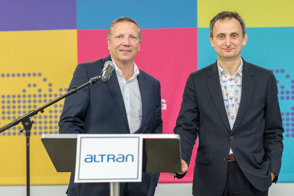 Rob Vatter, CEO, Altran NA (left) and Keith Williams, CTO, Altran