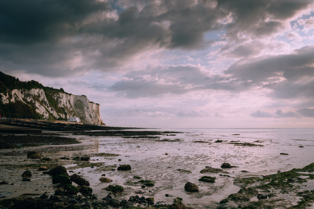 St Margaret's Bay near Dover. Growing up in Dover, the cliffs become an evocative reminder of home.