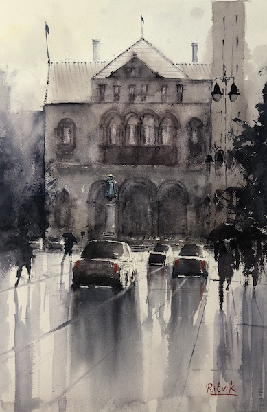 Raining By City Hall [SOLD]
