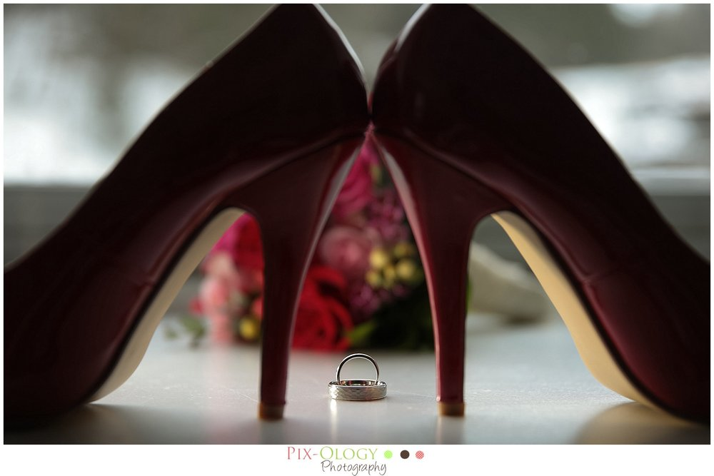 pix-ology photography wedding shoes with rings ledges hotel
