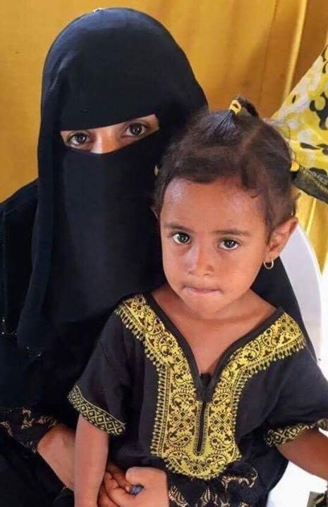This woman and her young daughter are among approximately 1,250 Yemeni refugees living in the Markazi camp.