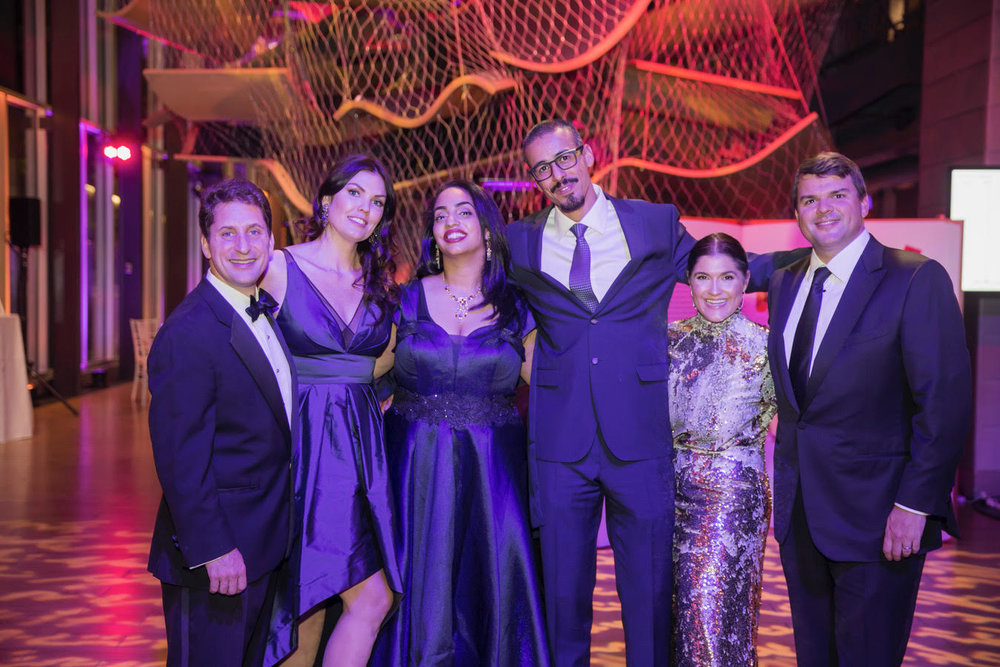 Wonderball co-chairs – Philip Gordon, Julie Gordon, Aisha Al Riyam, Al Wadhah Al Wadawi, Janna O'Neill, Sean O'Neill   Photo credit: Matt Teuten