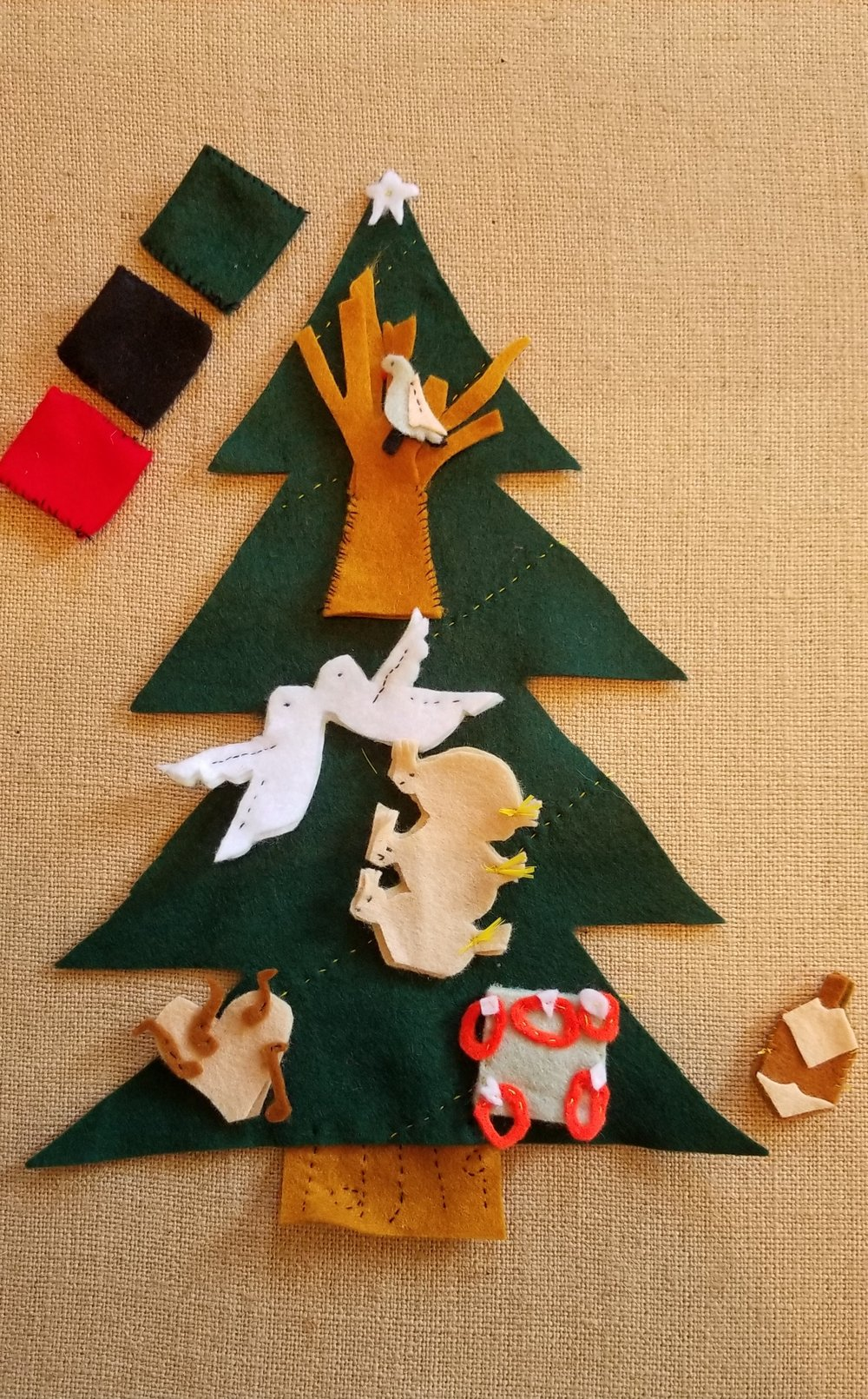 Our Felt Finger Puppets Buy Here:  5 Days of Christmas