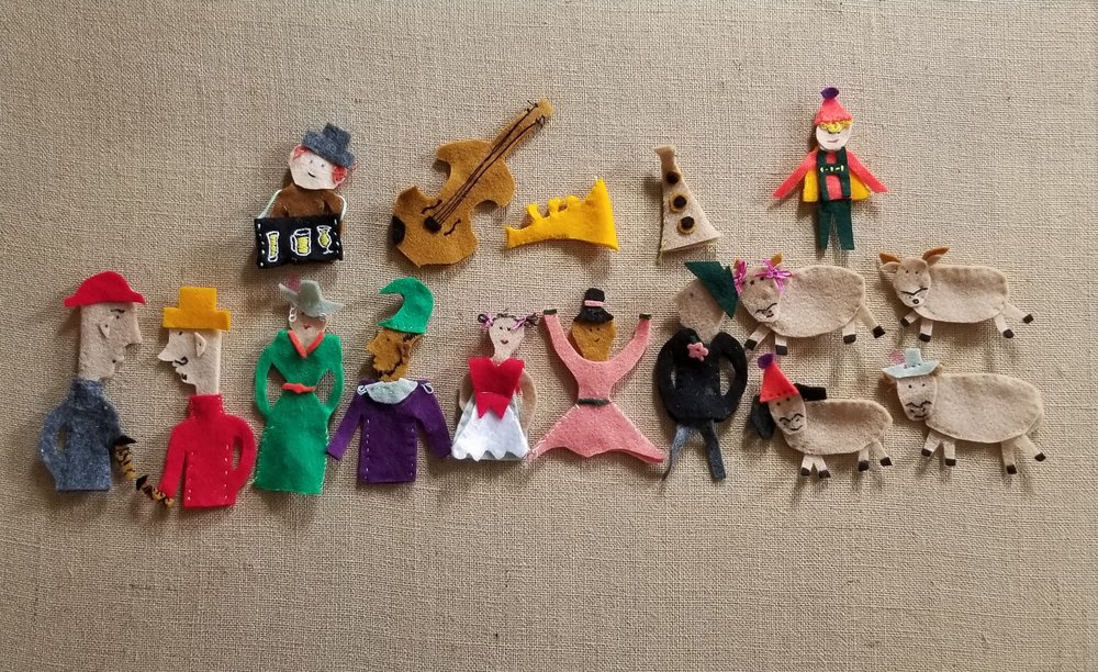 Our Felt Finger Puppets Buy Here:    Lonely Goatherd