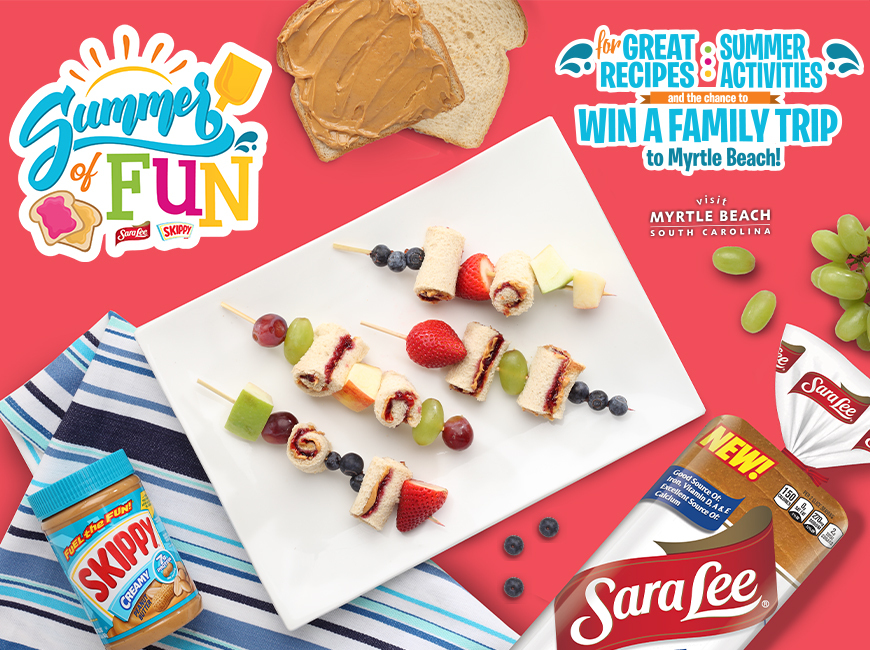 """Visit Myrtle Beach Teaming Up with Sara Lee and Skippy for """"Summer"""