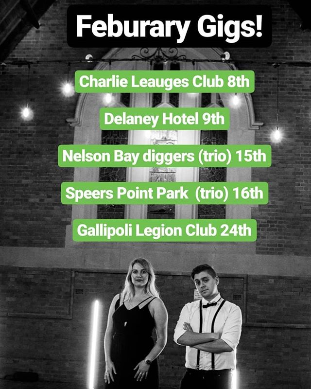 Feb Gigs are up! Hoping to see your lovely faces at one of these amazing venues soon!  #guitar #acoustic #coleclarkguitars #coleclark #line6helix #weddingband #function #ableton #abletonpush #macbook #recording #musicvideo #production #blonde #livemusic #livelooping #newcastle #singing  @eao_entertainment @charlestownleauges @gallipolilegionclub @communitycinemaunderthestars @newcastlelive @wests_eats @shoalbaydiggers @jb_musician @nickbukeydrums