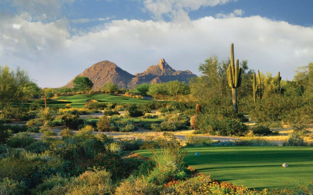 Campo de golf en el área de Phoenix.