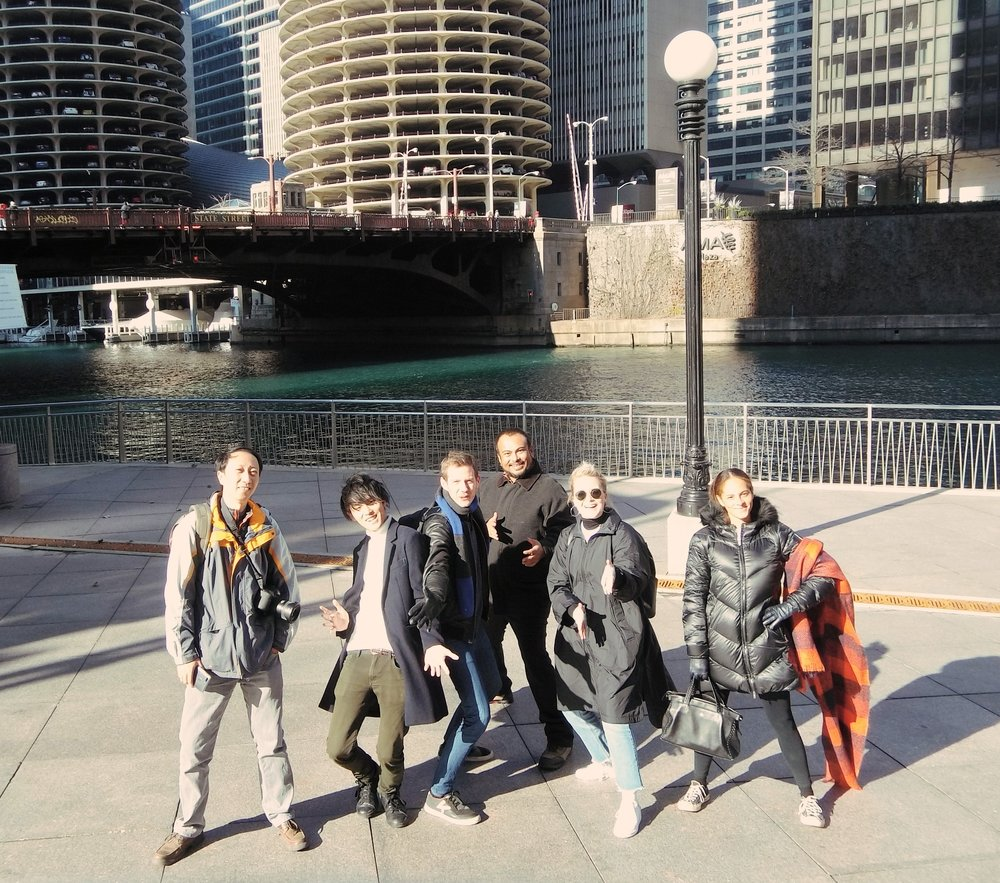 "Parte del equipo ""Entreteiners"" del Global Influencers Fam en Chicago"