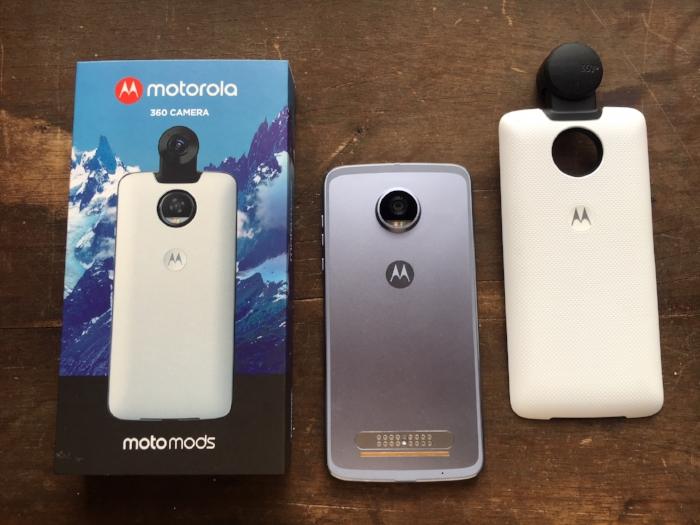 Moto 360, la cámara 360 de Motorola que se integra al Moto Z