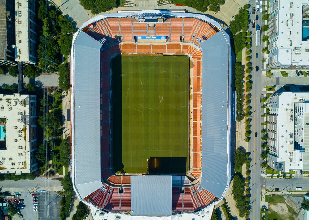 Photo by  Alexander Londoño   Drone view of Houston football stadium