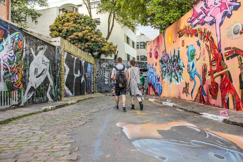 Paseo en pareja por Sao Paulo