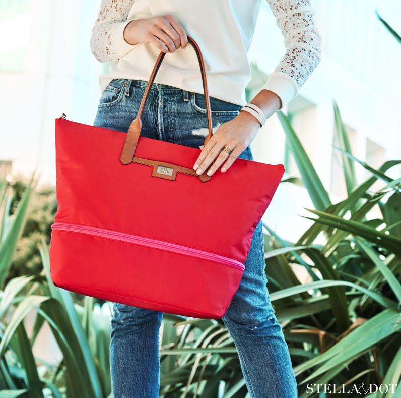 red monogrammed stella and dot bag.jpg