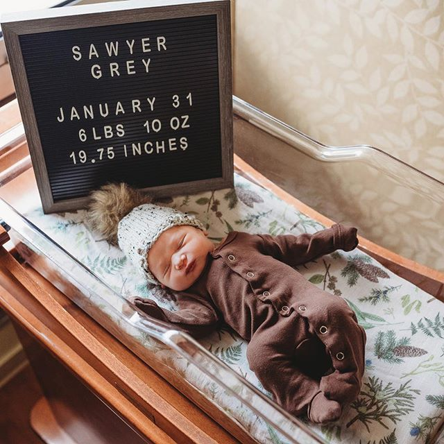 And just like that our world changed in the most amazing way! ❤️ Say hello to Sawyer Grey Jenkins arriving January 31st at 5:56am and is 6lbs 10oz of pure cuteness. I hearts couldn't be more full and more in love ❤️💗
