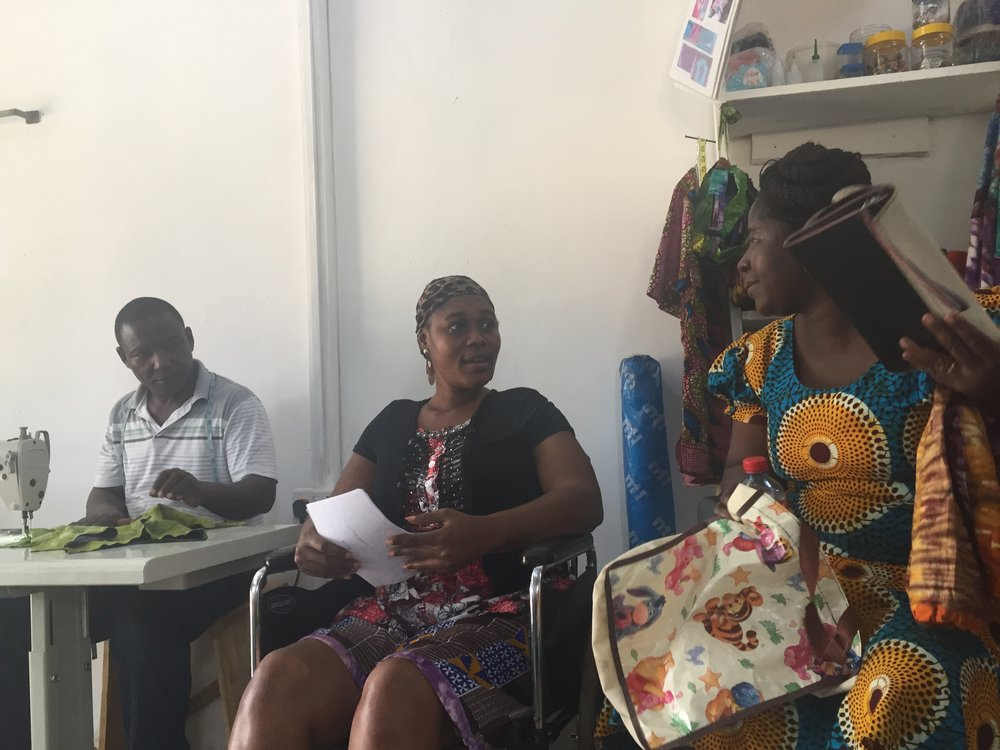 Manager Hosts Meeting for First Two Knitters / Tag-Makers