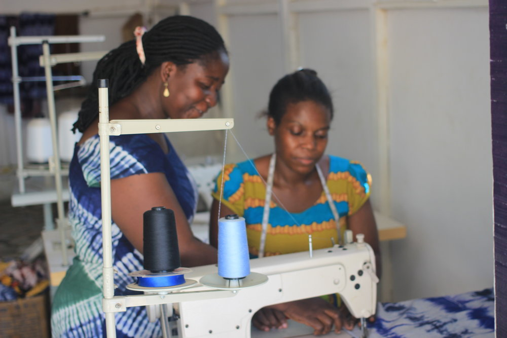 Seamstress Undergoes Training During First Months of Work