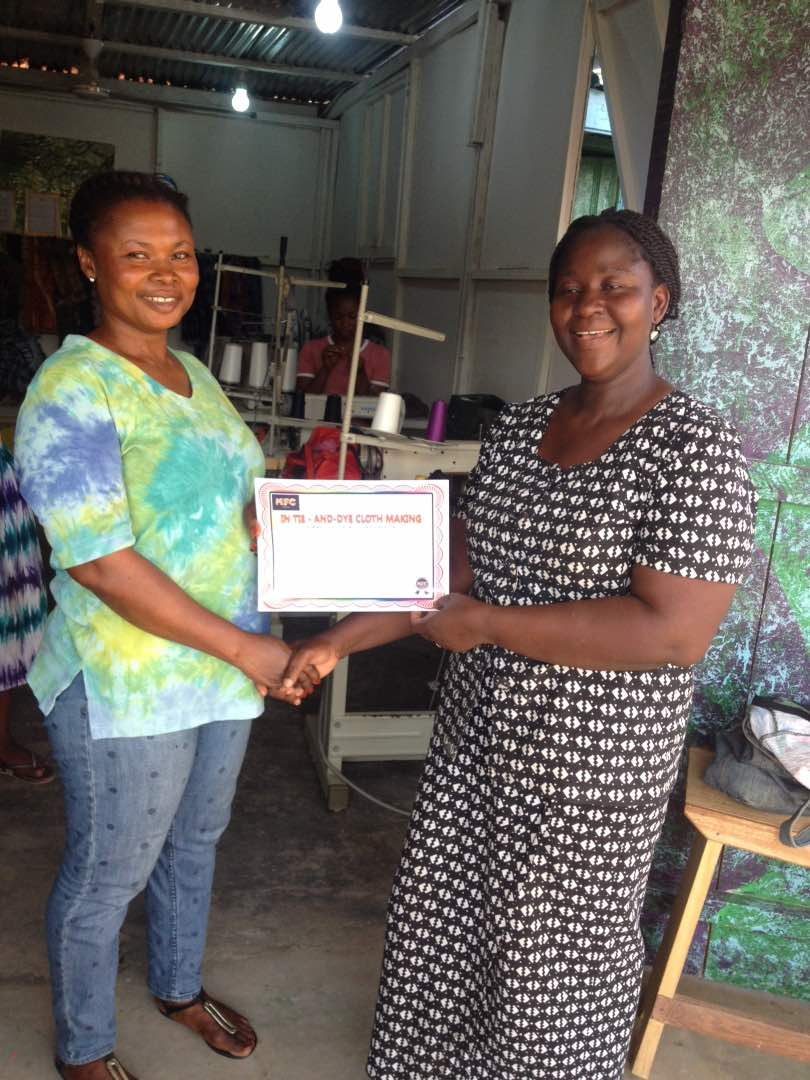 First Cloth-Maker Graduates from Six-Month Training