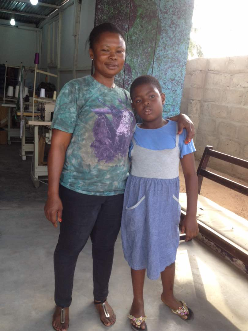 First Cloth-Maker Reports to Work with Daughter