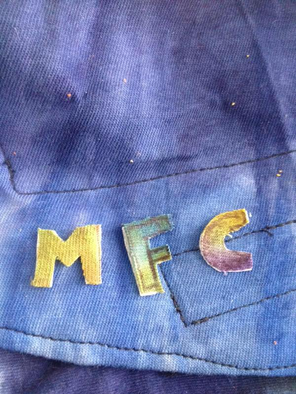 Logo Embroidered from T-Shirt Scrap Fabrics