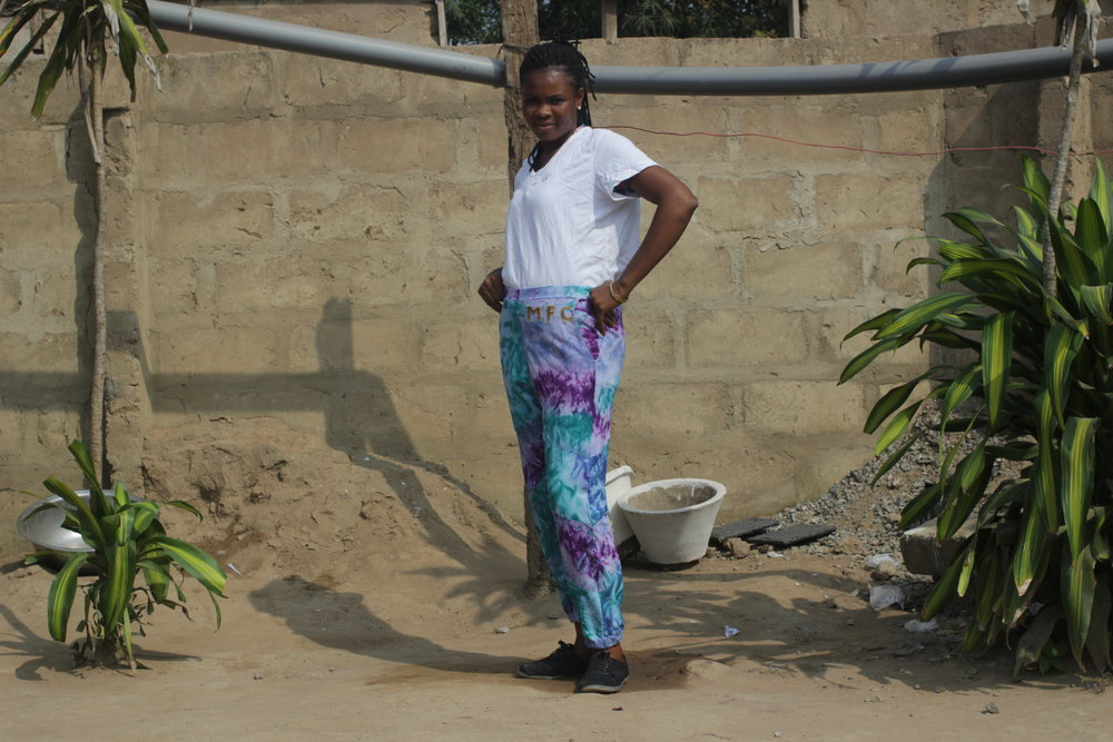 Second Seamstress Models New Galaxies Trousers