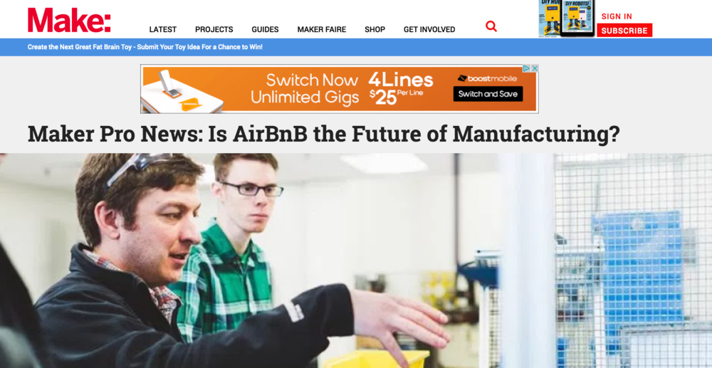 maker pro news: is airbnb the future of manufacturing? - Make:, April 2017