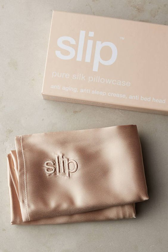 SLIP Pillow Case  Honestly, the idea of sleeping on a silk pillow case just seems so dreamy - no pun intended. But, there are so many benefits that come with it too; one of them being that it's much gentler on your skin and hair. Sign me up.