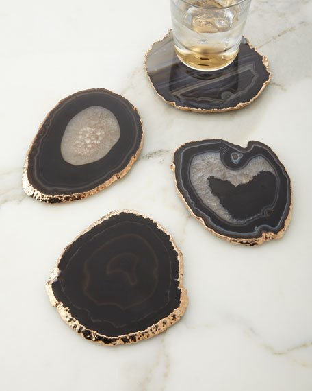AERIN Black Agate Coasters   I'm over here drooling, y'all...