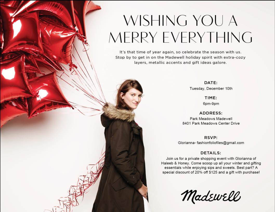 madewell invite