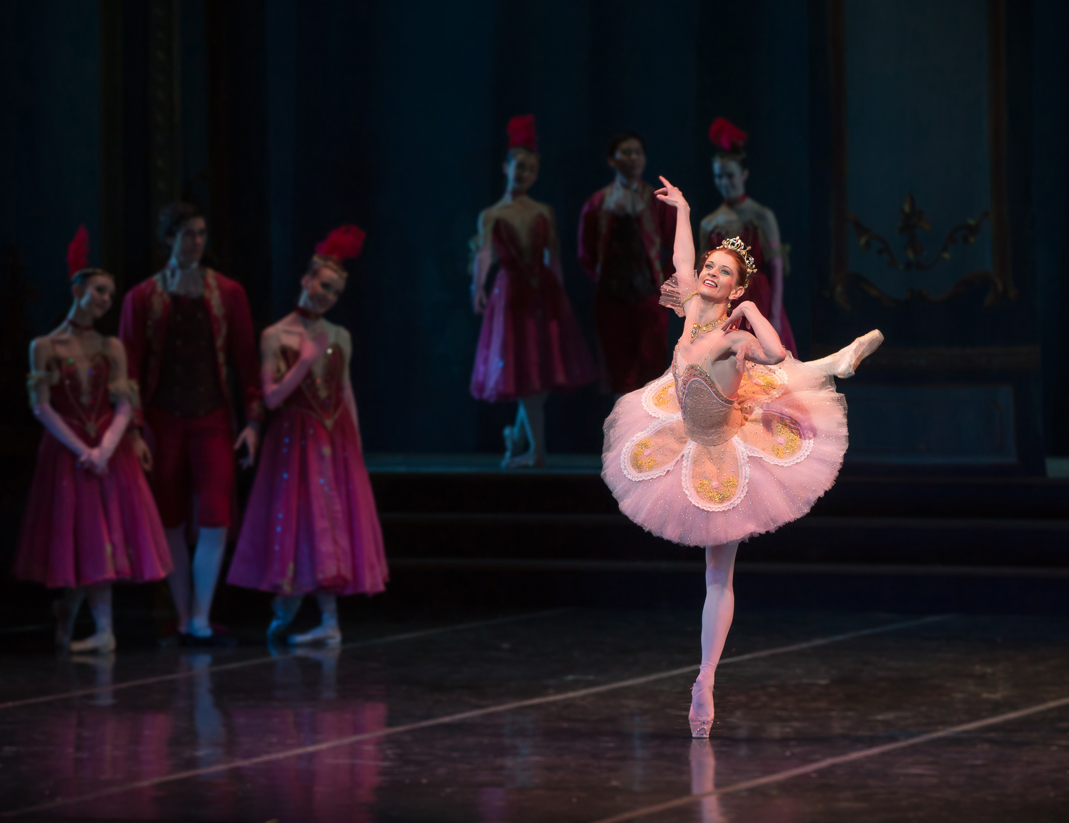 Maria Mosina in Cinderella ballroom scene - photo by Mike Watson