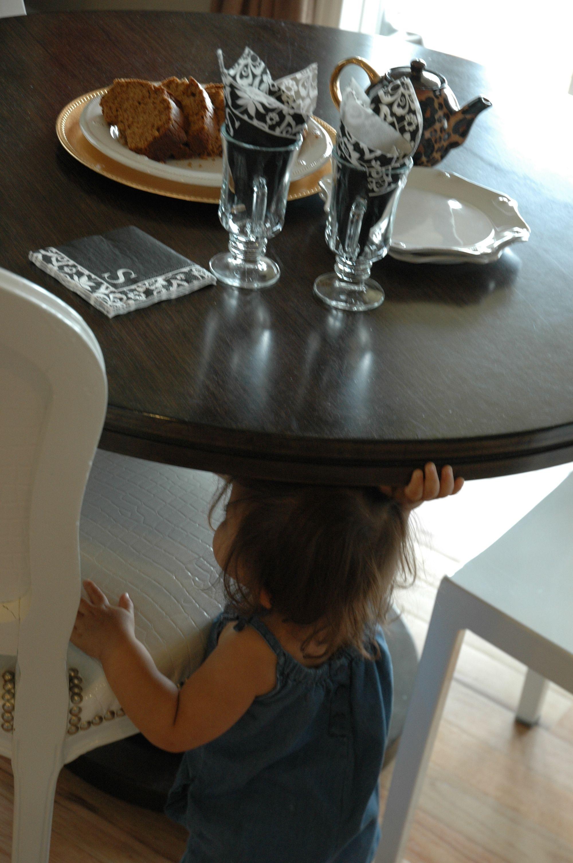 britt remy under table