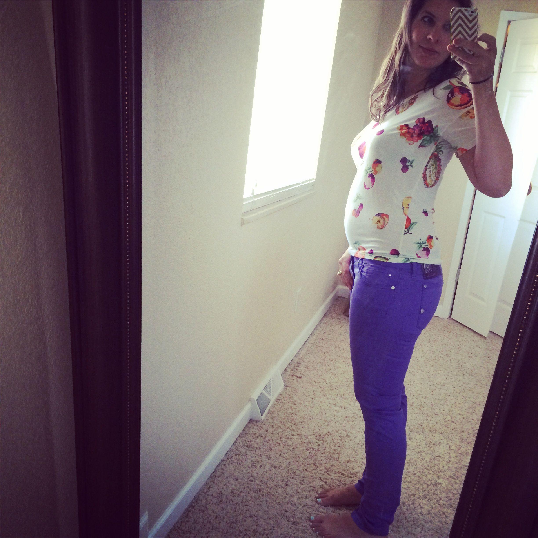 bump style purple pants