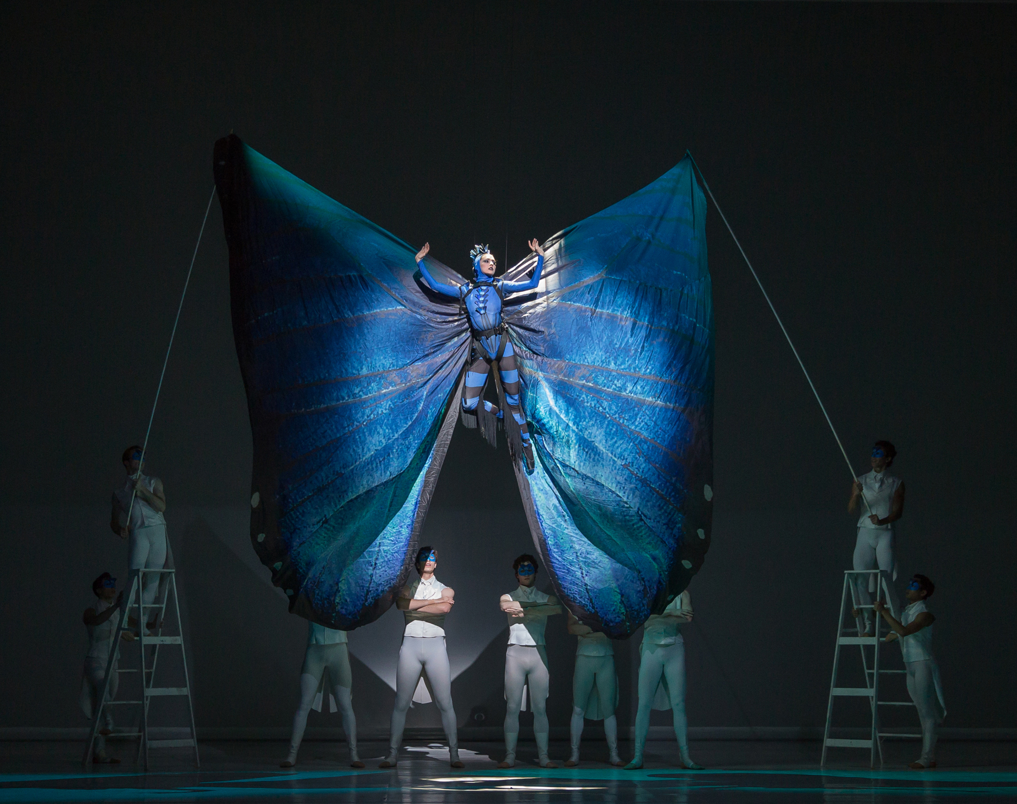 Artists of Colorado Ballet - Caterpillar-Butterfly Scene by Mike Watson