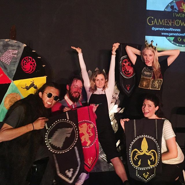 You know nothing Amberly Cull! Turns out you can win the Gameshow of Thrones by being bold, stealing points and seizing challenges despite not having seen the show 😂 this has never happened before. Fun Friday show. One last show left tonight!!! Come play before we go! 🔥🔥