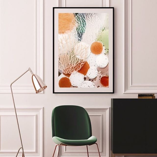 Coral Print by Ria Ganis from $17 including free shipping! Limited time only. . . . . . . . #printcollective #wallart #prints #print #paints #colour #gallery #home #interior #gift #interior