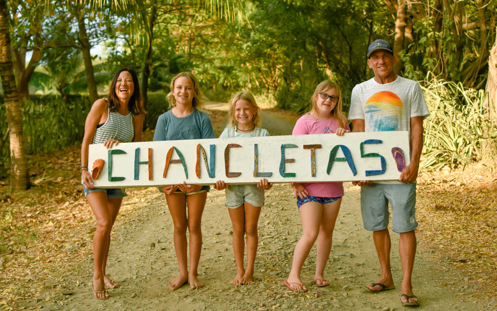 The O'Brien Family - owners of Chancletas Beach Resort