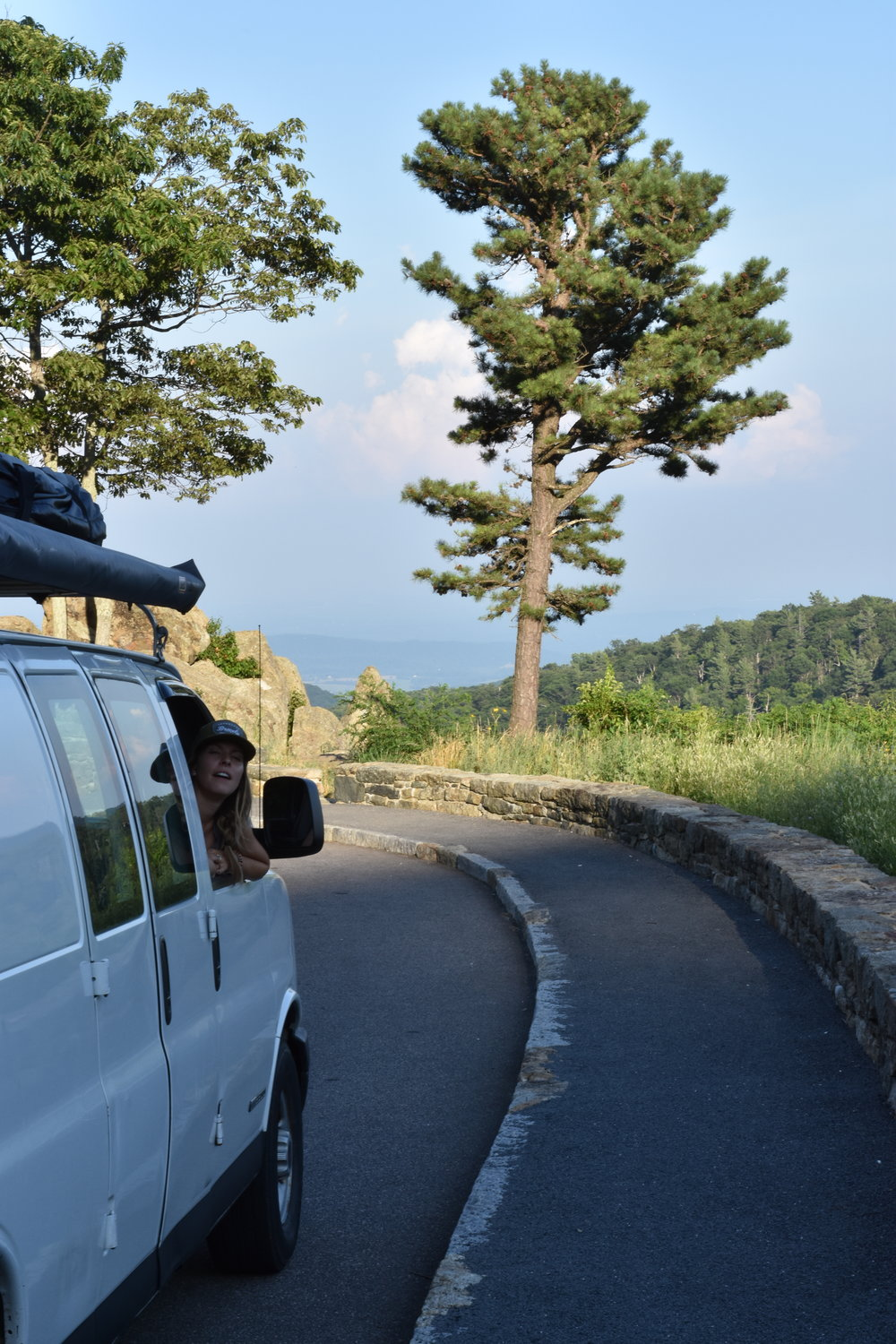 Taking in the Views on Skyline Drive in Shenandoah National Park.