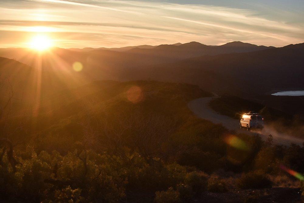 Sunset Ride through Mendocino County