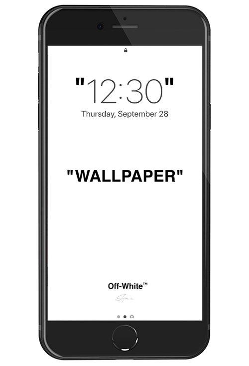 OFF WHITE LOCK SCREEN WALLPAPER V1
